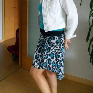 transformar vestido palabra de honor en falda
