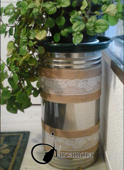 Manualidad fácil paso a paso: Reciclar paragüero y crear un macetero