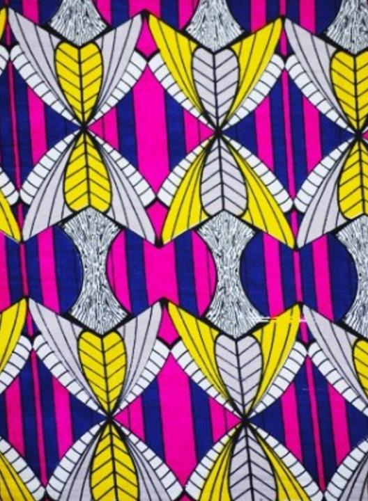 tela africana wax mariposa magenta -jarcamora