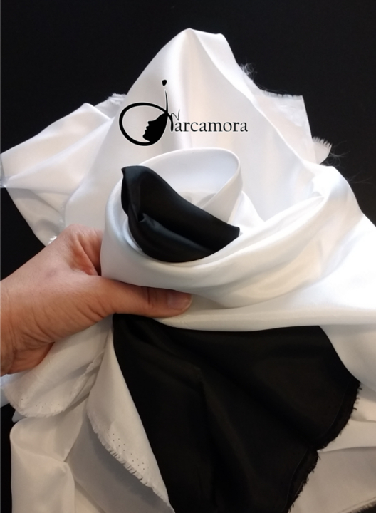 Jarcaconsejo: tela para forro negra y blanca