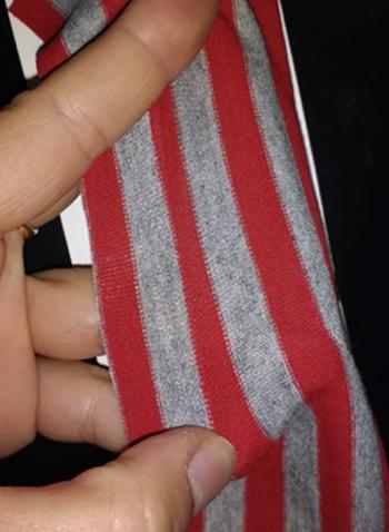 Consejo de costura- elastico-rojo