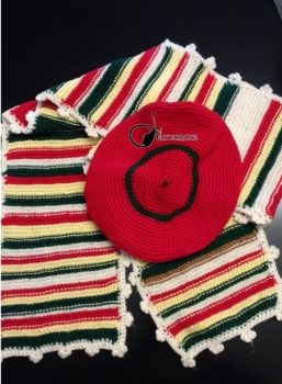Crochet y Ganchillo Fácil Paso a Paso: Bufanda en punto bobo con boina