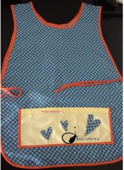 Tutorial de Costura: Cómo coser un Original Delantal con Corazones con Patrón Descargable Gratis
